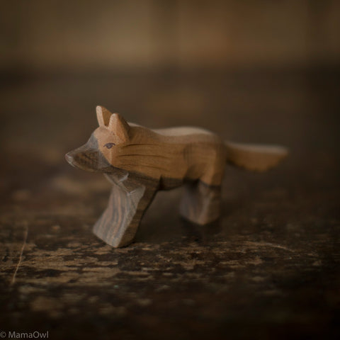 Hand Crafted Wooden Wolf