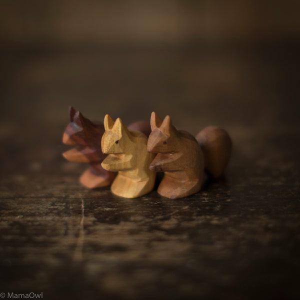 Hand Crafted Wooden Squirrel