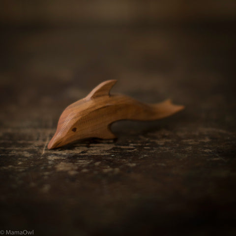 Hand Crafted Wooden Dolphin