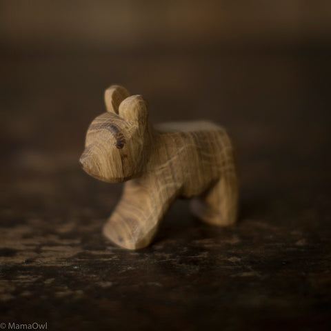 Hand Crafted Wooden Small Standing Bear