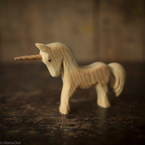 Hand Crafted Wooden Unicorn
