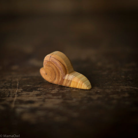 Hand Crafted Wooden Snail