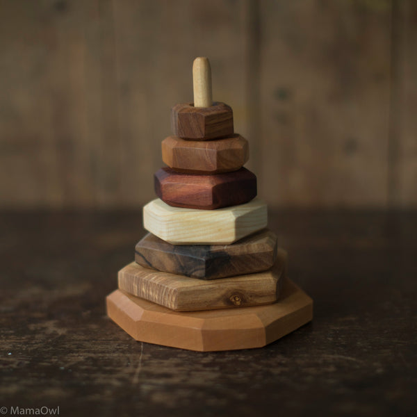 Hand Crafted Wooden Stacking Toy