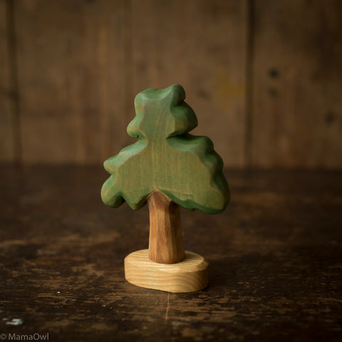 Hand Crafted Wooden Small Deciduous Tree