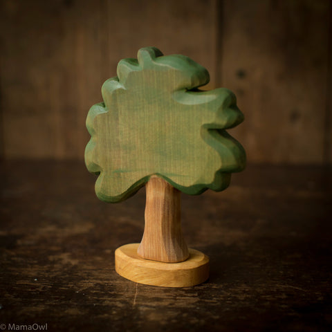 Hand Crafted Wooden Medium Deciduous Tree