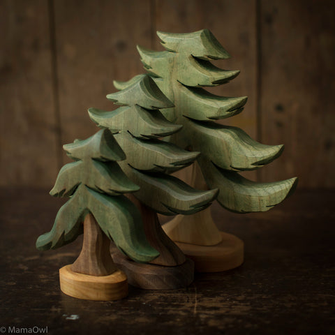 Handcrafted Wooden Small Fir Tree