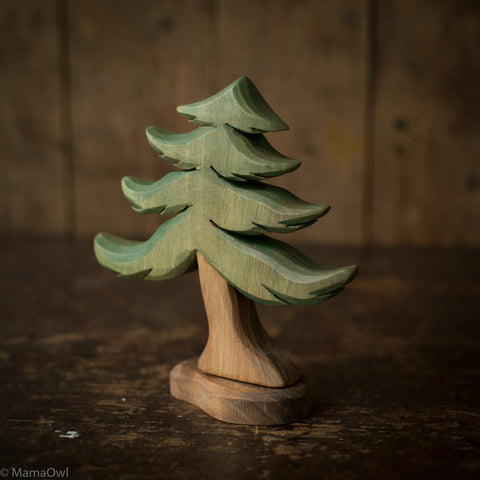 Handcrafted Wooden Medium Fir Tree