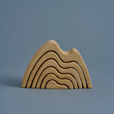 Wooden Mountains Arch Stacker  - Natural