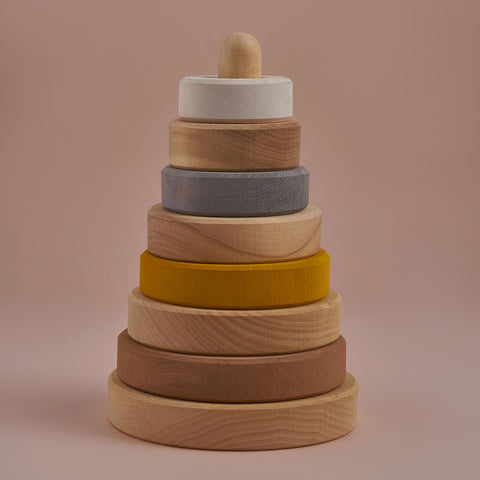 Wooden Stacking Tower - Sand