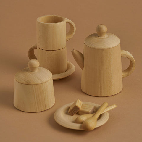 Wooden Tea Set - Natural