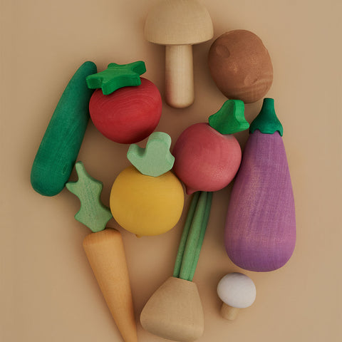 Wooden Vegetables Set