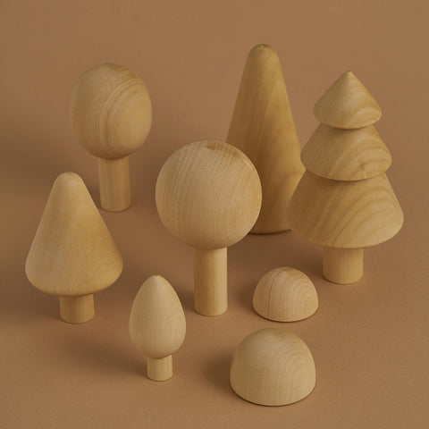 Wooden Russian Forest Set - Natural