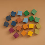 Wooden 20 Piece Cube Set - Earth