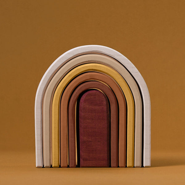 Wooden Oval Rainbow Stacker