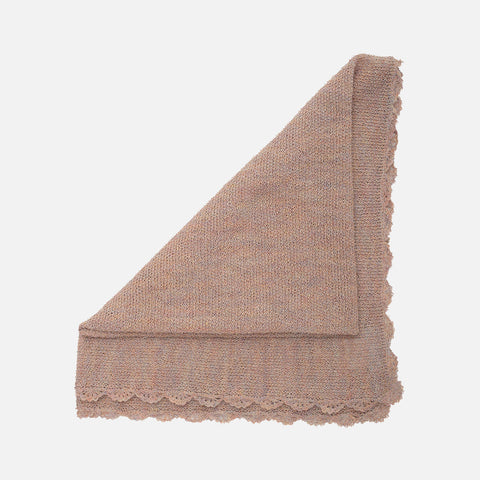Alapca Semi Hand Knitted Swaddle/Blanket - Sorbet