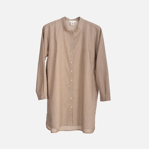 Women's Organic Cotton Shirt - Walnut Square