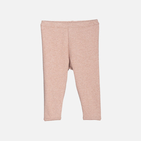 Organic Cotton Baby Rib Leggings - Clay