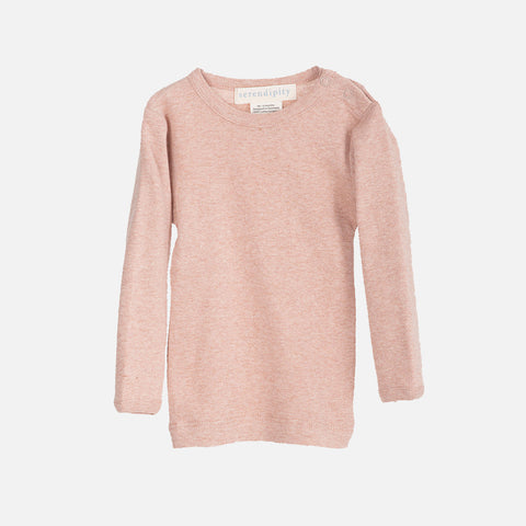 Organic Cotton Baby Rib LS Top - Clay