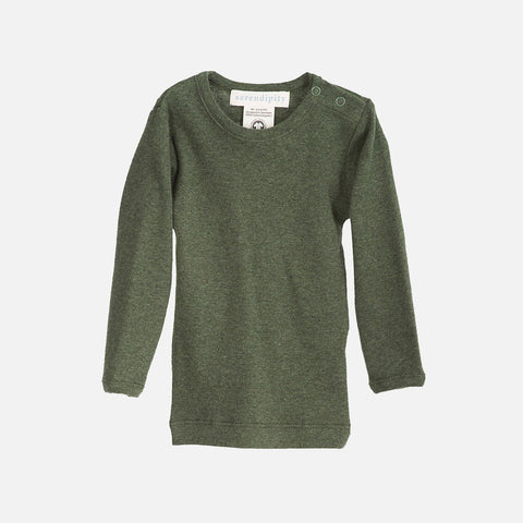 Organic Cotton Baby Rib LS Top - Pine