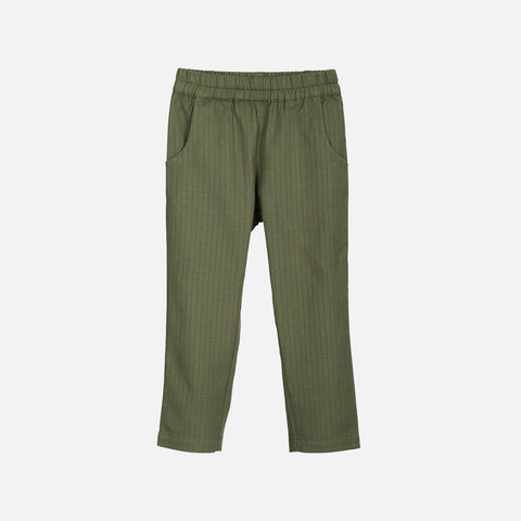 Organic Cotton Herringbone Trousers - Cedar