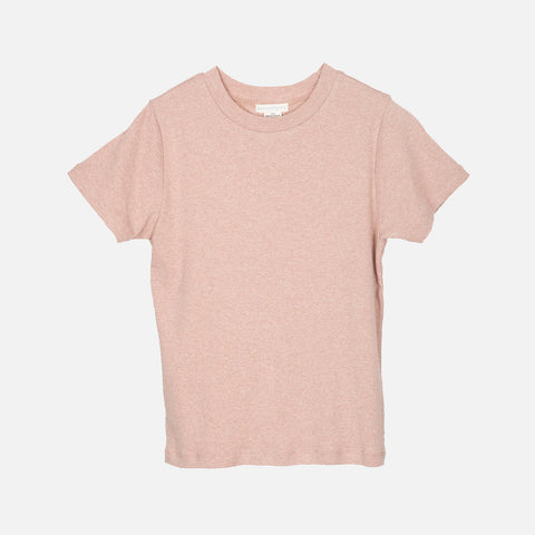 Women's Organic Cotton Rib SS Tee - Clay