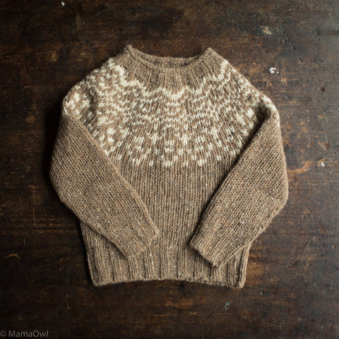 Merino Wool Donegal Isle Sweater - Oak