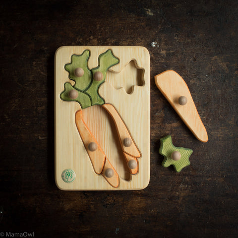 Wooden Puzzle - Carrot