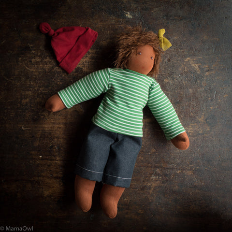 Organic Cotton/Wool Pauline Doll