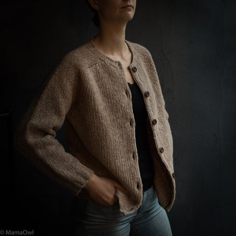 Women's Merino Wool Donegal Coast Cardigan - Oatmeal