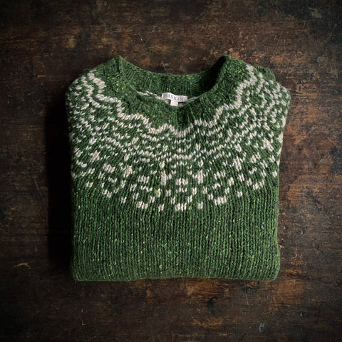 Adult's Merino Wool Isle Sweater - Moss
