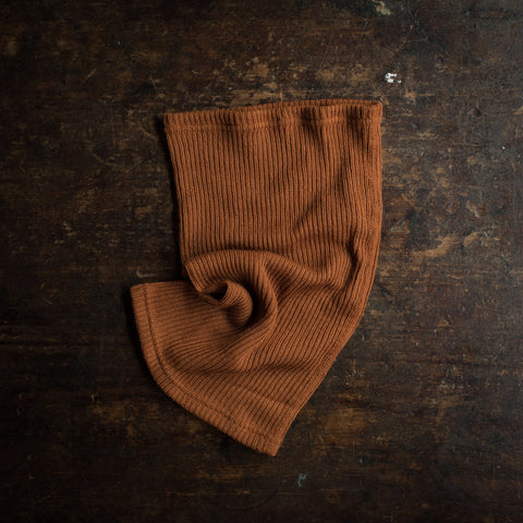 Merino Wool Heavy Rib Snood - Rust