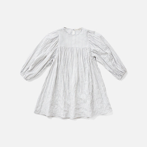 Cotton Clementine Dress - Ticking Stripe