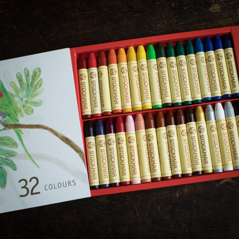Wax Stick Crayons In Box - 32 Crayons