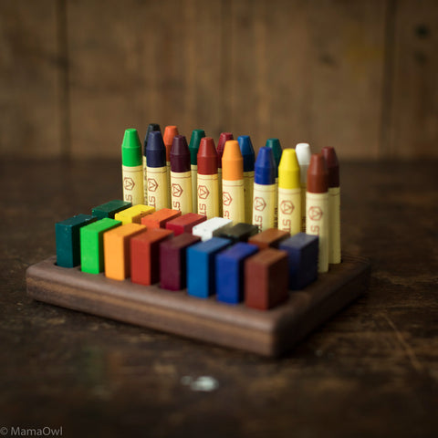 Handmade Walnut Wax Block & Crayon Holder 16/16