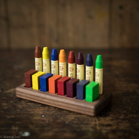 Handmade Walnut Wax Block & Crayon Holder 8/8