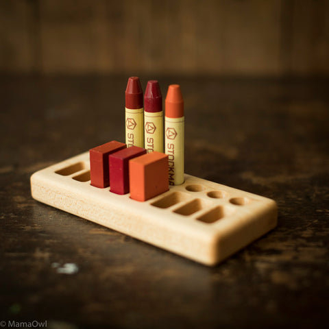 Handmade Maple Wax Block & Crayon Holder 8/8