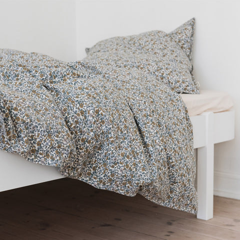 Organic Cotton Duvet & Pillow Cover - Floral Vintage - Single