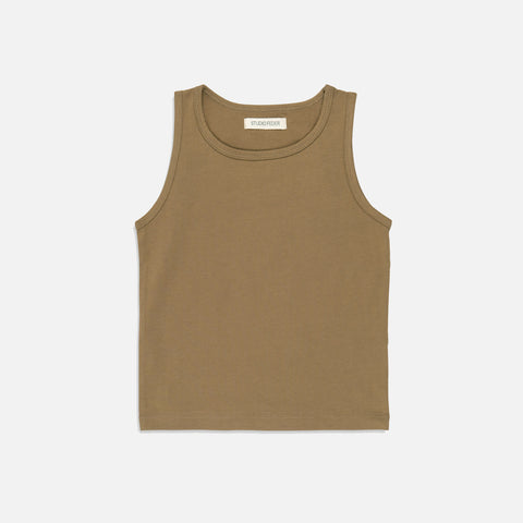 Organic Cotton Tank Top - Camel
