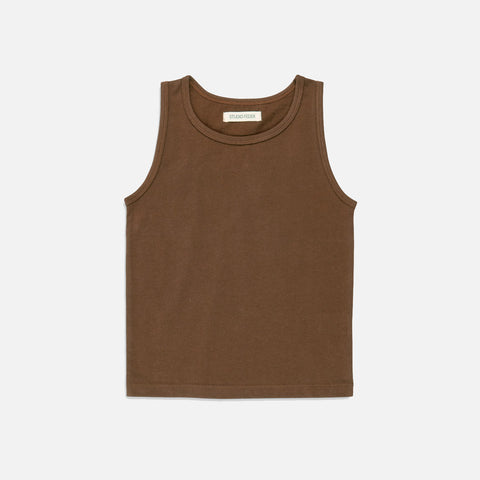 Organic Cotton Tank Top - Mocha