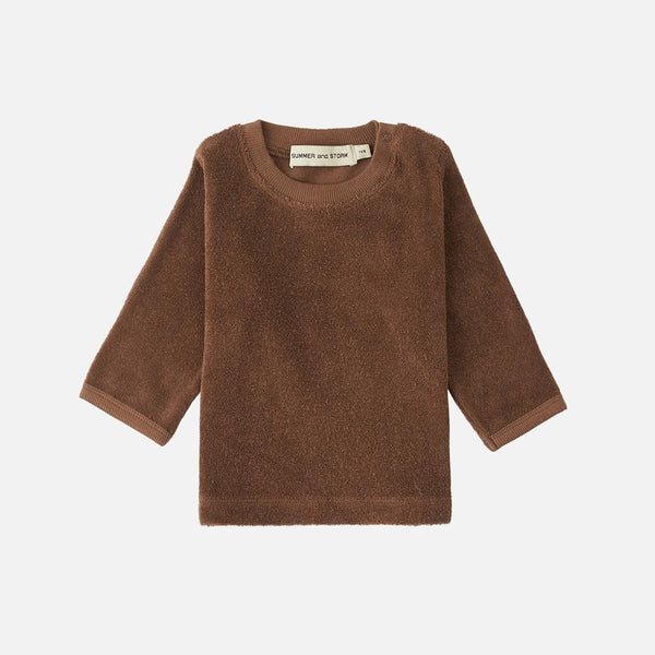 Organic Cotton Terry LS Top - Chocolate