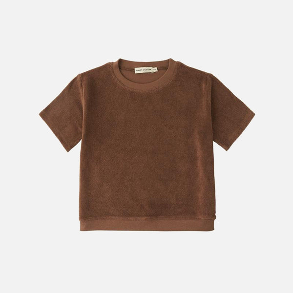 Organic Cotton Terry Tee - Chocolate
