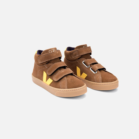 Suede Esplar Velcro Trainer - Brown/Tonic