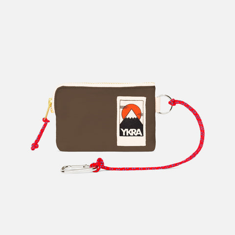 Cotton Canvas Mini Wallet - Khaki