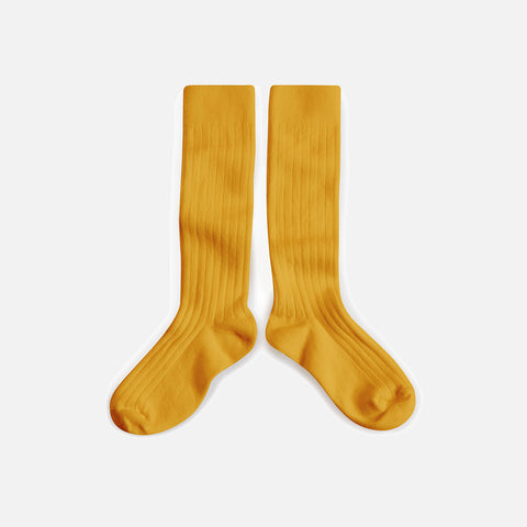 Adult Cotton Knee Socks - Honey