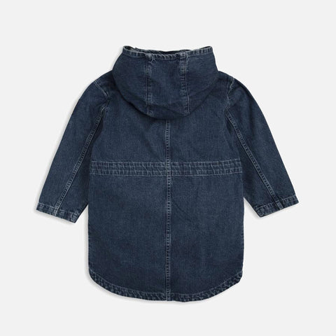 Organic Cotton Denim Parka - 1-9y