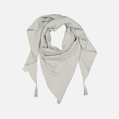 Adult's Cotton Misha Scarf with tassels - Almond