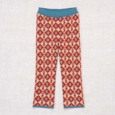 Hand Knit Merino Wool Autumn Pants - Alabaster