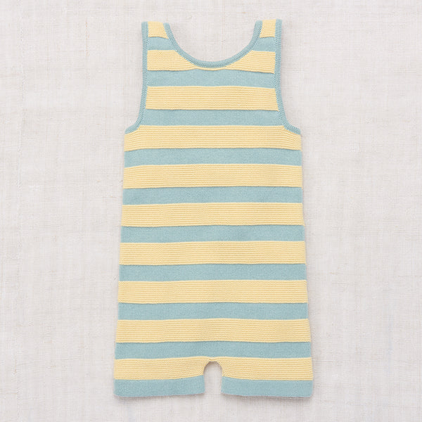 Cotton Boardwalk Bather Romper - Faded Indigo - 1-5y