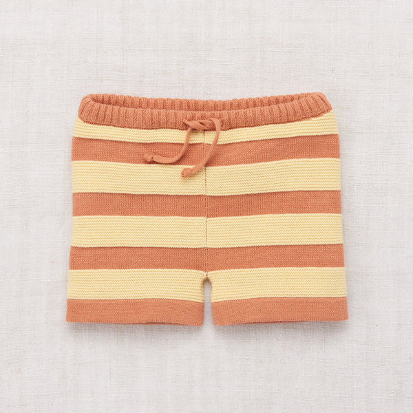 Cotton Boardwalk Brief Shorts - Clay - 12-24m & 5-8y