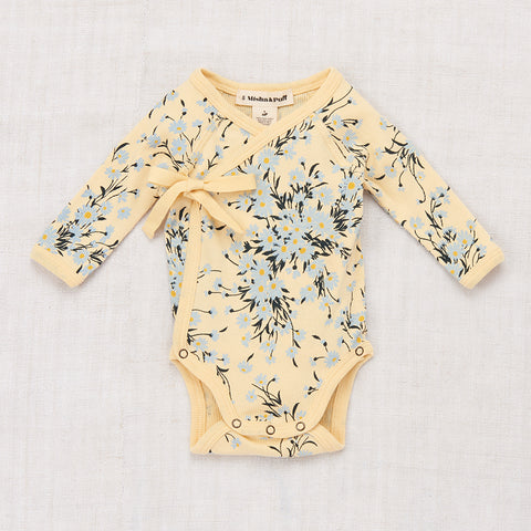 Cotton Wild Daisy Crossover Onesie - Buttercream - 0-24m